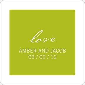 Picture This -- Wedding Favor Stickers