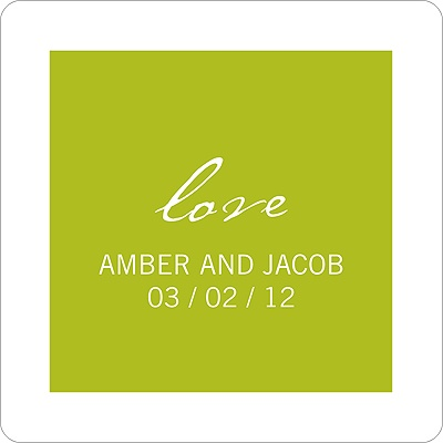 Picture This Wedding Favor Stickers