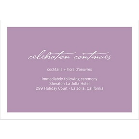 Picture This -- Wedding Reception Card