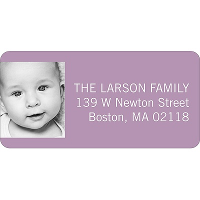 Simply Written -- Girl Address Label