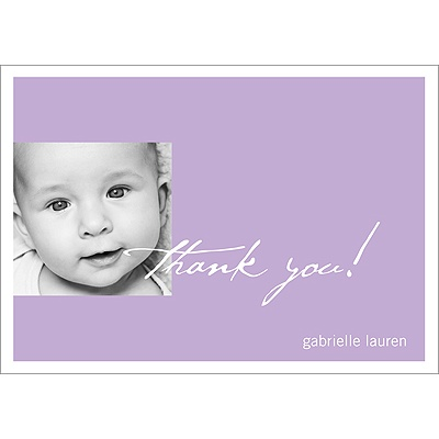 Simply Written -- Baby Thank You Card