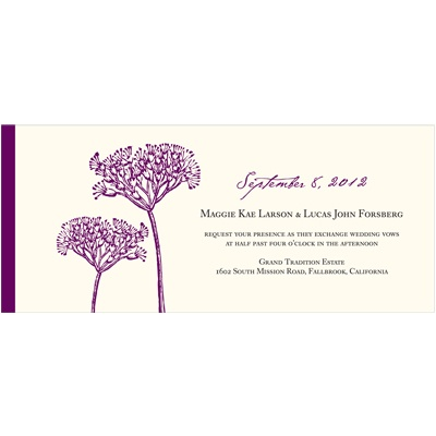 Elegant Floral Stalks -- Unique Wedding Invitations