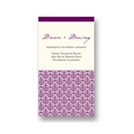 Elegant Damask Array -- Wedding Reception Card