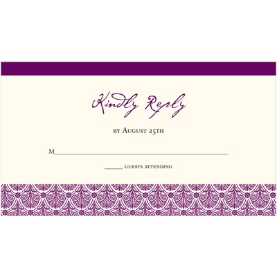 Elegant Damask Array -- Wedding Response Card