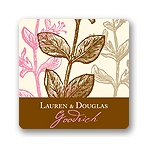 Subtle Vines -- Wedding Favor Stickers