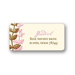 Subtle Vines -- Wedding Address Label