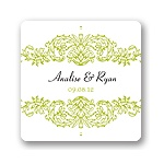 Refined Reflection -- Wedding Favor Stickers