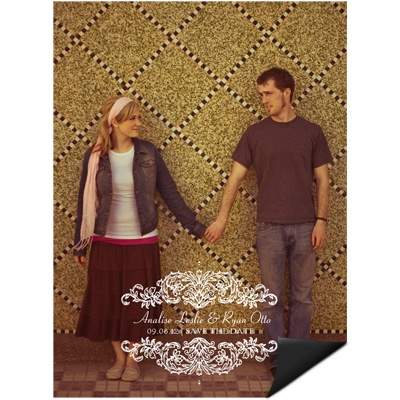 Refined Reflection Save the Date Magnet