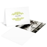 Refined Reflection Wedding Photo Thank You Card