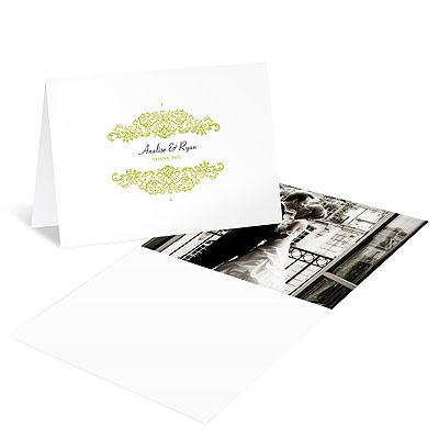 Refined Reflection -- Wedding Photo Thank You Card