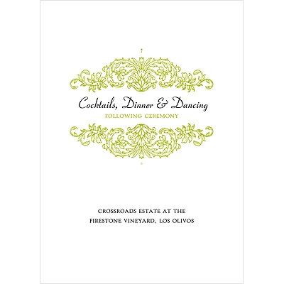 Refined Reflection Wedding Reception Card