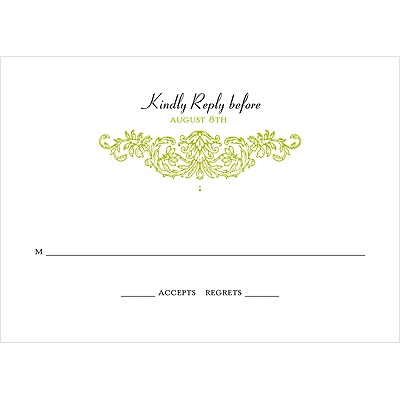 Refined Reflection -- Wedding Response Card
