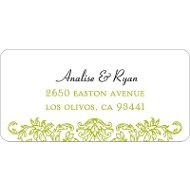 Refined Reflection Wedding Address Label
