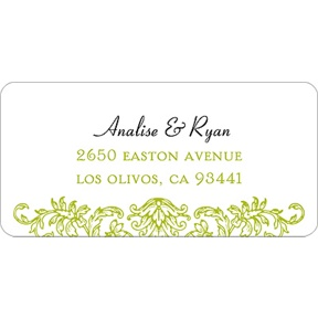 Refined Reflection -- Wedding Address Label