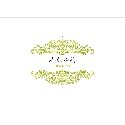 Refined Reflection Wedding Thank You Card