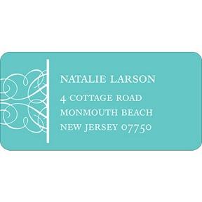 Simply Circled -- Wedding Address Label