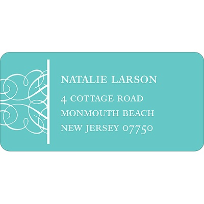 Simply Circled Wedding Address Label