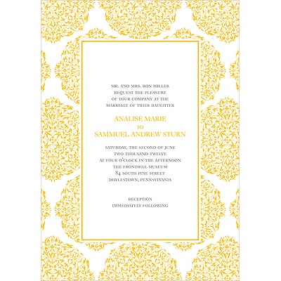 Detailed Day Formal Wedding Invitation