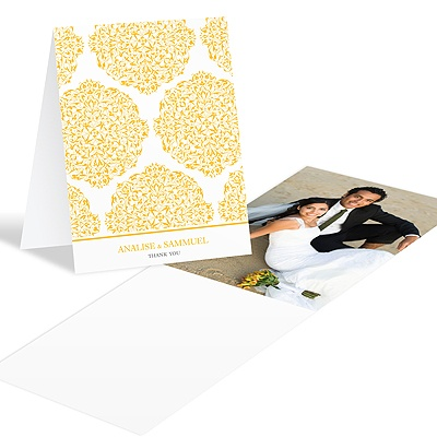 Detailed Day Wedding Photo Thank You Card