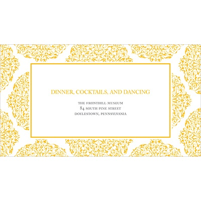 Detailed Day Wedding Reception Card