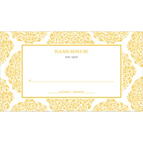 Detailed Day -- Wedding Response Card