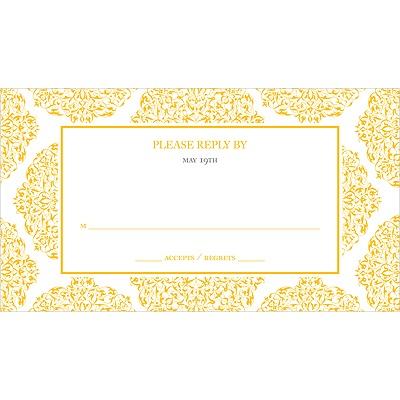 Detailed Day Wedding Response Card