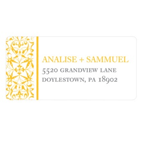 Detailed Day -- Wedding Address Label