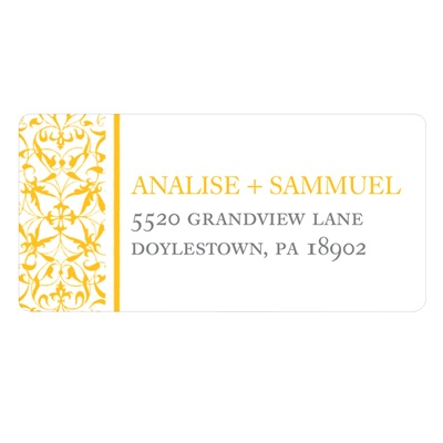 Detailed Day Wedding Address Label