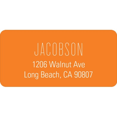 Lovely Lines Wedding Address Label