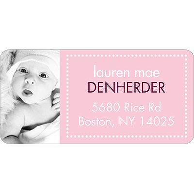 Newborn Collage -- Photo Address Label