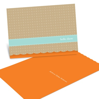Scalloped Fixation -- Thank You Card