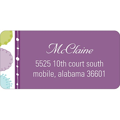 Round & Round We Go! In Purple -- Address Label