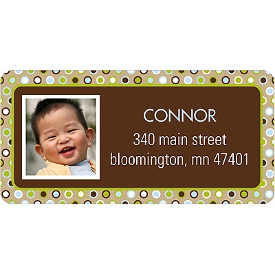 Polka Dot Parade -- Green Address Label