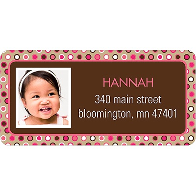 Polka Dot Parade -- Pink Address Label