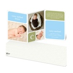 Baby Book Blocks -- Boy Elegant Birth Announcements