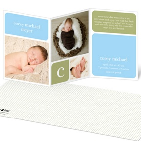 Boy Baby Blocks -- Birth Announcements