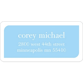 Boy Baby Blocks -- Baby Address Labels
