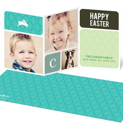 Bunnies and Blocks Easter Cards