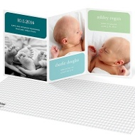 Twin Baby Blocks Multiples Baby Announcements