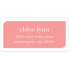Girl Baby Blocks -- Baby Address Labels