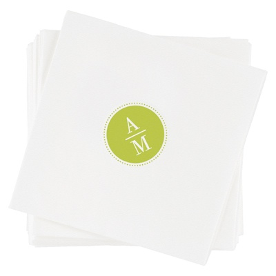Sleek Monogram -- Monogrammed Napkins