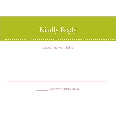 Simply Sophisticated -- Response Card