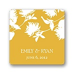 Stylish Flower Background -- Wedding Favor Stickers