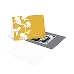 Stylish Flower Background -- Photo Wedding Thank You Card