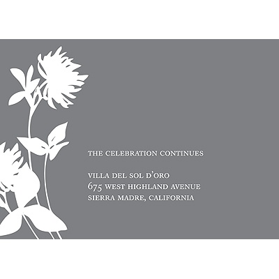 Stylish Flower Background-- Reception Card