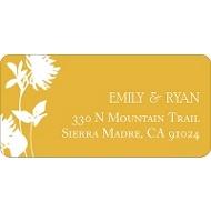 Stylish Flower Background Address Label