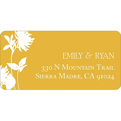 Stylish Flower Background Address Label