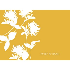 Stylish Flower Background -- Thank You Card