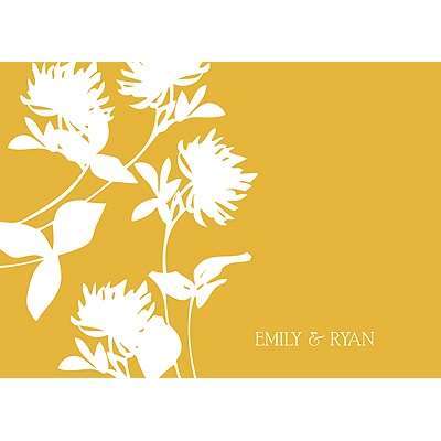 Stylish Flower Background Thank You Card