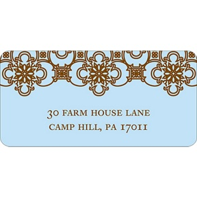 Exquisite Pattern -- Blue Address Label